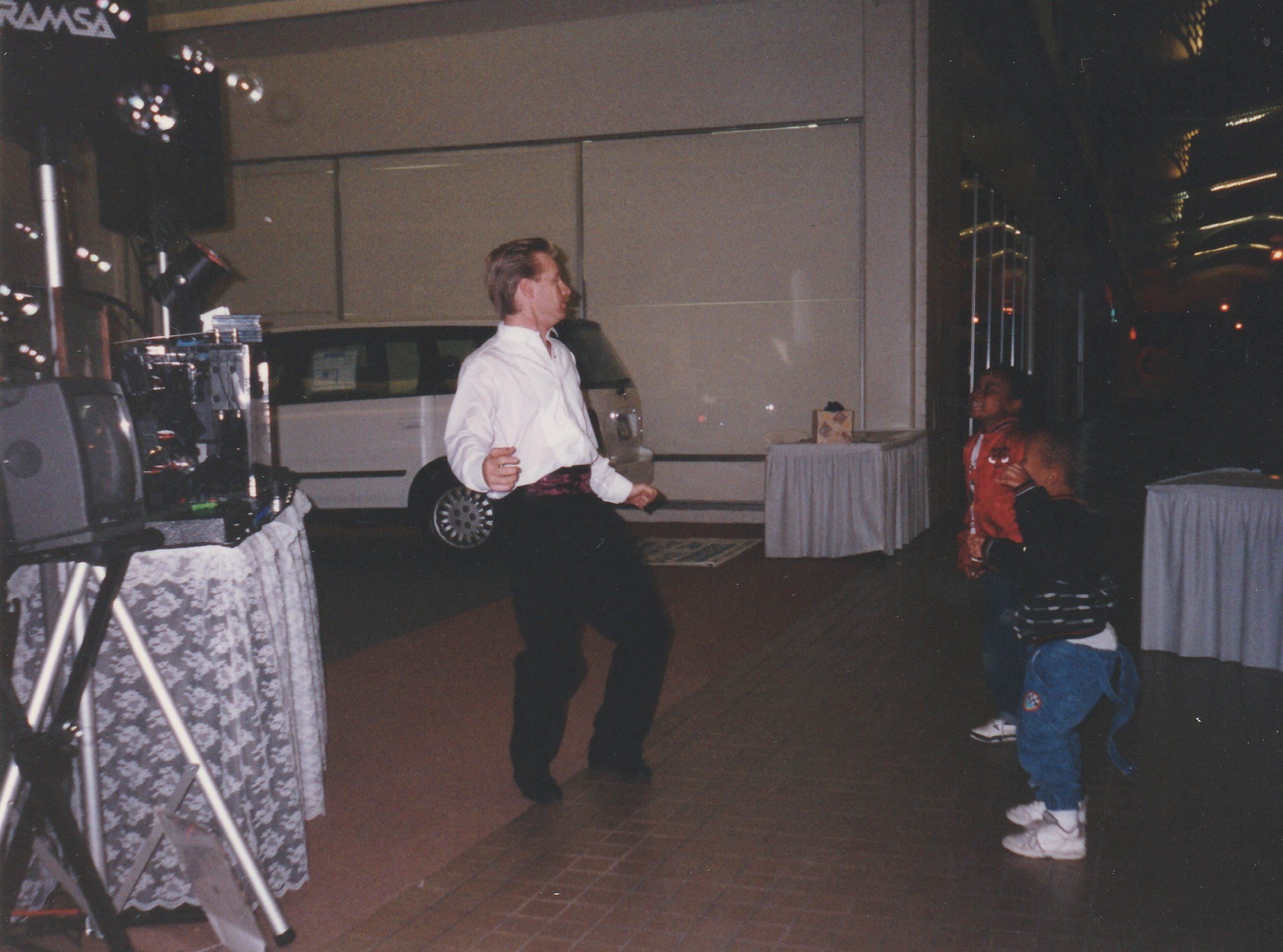 Getting down at Sacramento bridal fair