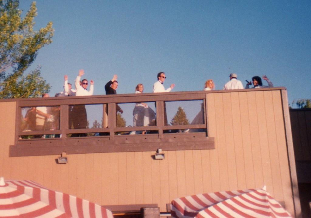 South Lake Tahoe two level wedding