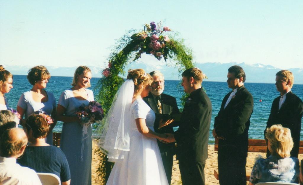 Kings Beach Lake Tahoe ceremony