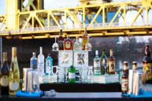 Full bar set up on Sacramento river