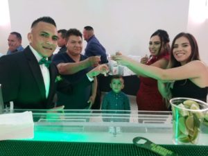 Wedding fun at the bar